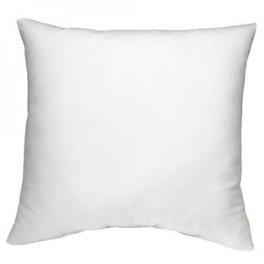 "DreamHome Square Poly Pillow Insert, 18"" L X 18"" W, White"
