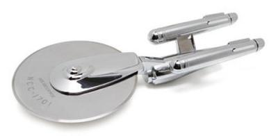 Star Trek Enterprise Pizza Cutter (Stainless Steel) - Perfect Gift for Trekkies - Live Long And Pizza.