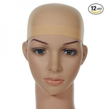 Unisex Stocking Wig Cap Snood Mesh Netural Nude Beige(12 Pack)