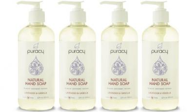 Puracy 100% Natural Liquid Hand Soap - Sulfate-Free - THE BEST Hand Wash - Lavender & Vanilla - Developed by Doctors - All Ages & Skin Types - Clinical-Grade Sea Salt, Vitamin E, Aloe Vera - 12-ounce - Pack of 4
