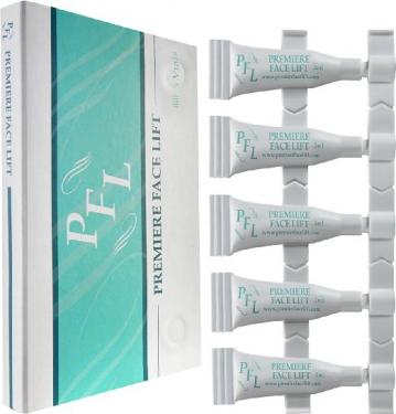 Become Ageless Instantly with Premier Face Lift -5 Vials 10ml Total -Remove Wrinkles, Bags, Lines, Puffiness & Dark Circles Instantly -Powerful Clinical Anti Wrinkle Microcream -Your Facelift in a Box