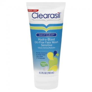 Clearasil Daily Clear Sensitive Acne Face Wash and Hydra-blast Oil-Free Sensitive Face Wash Set, 6.5 Fluid Ounce