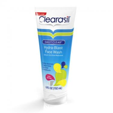 Clearasil Clearasil Daily Clear Acne Face Wash and Hydra-blast Oil-Free Face Wash, 6.5 Oz.