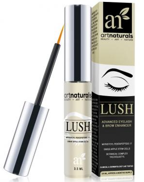 ArtNaturals Eyelash Growth Serum (3.5ml) - Thicker, Longer Eyelashes & Eyebrows Enhancer with LUSH, No Irritation, Dermatologist Tested Product, Revolutionary Pentapeptide-17 & Swiss Apple Stem Cells