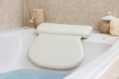 #1 Top Rated Luxury Spa Bath Pillow Large-Strongest Suction Cups -Most Comfortable Size and Thickness