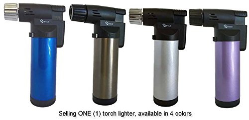 "GStar® TorchZilla Series 4.5"" Palm Size Windproof Jet Flames Butane Torch Lighter (Random Color)"