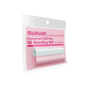 "momoup 2-pack Makeup Blotting Papers Replacement Oil Absorbing Paper Sheet Roll - 2.75"" X 275"""