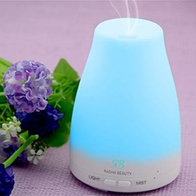 Aromatherapy Essential Oil Diffuser 7 colors - 120 ml Portable Ultrasonic Cool Mist Aroma Humidifier with changing Colored LED Lights, Waterless Auto Shut-off and Adjustable Mist mode
