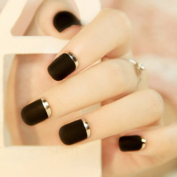 Fake Nails False Nail Design Pretty Nail Designs Black Fake Nails