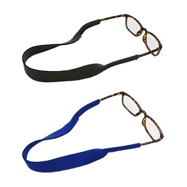 ANLENG Eyeglasses Strap Neck Cord Sunglasses Glasses String Lanyard --2 Pack-- (Black+Blue)