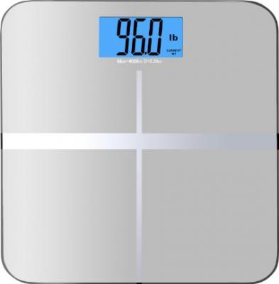 "BalanceFrom High Accuracy Premium Digital Bathroom Scale with 3.6"" Extra Large Dual Color Backlight Display and ""Smart Step-On"" Technology [NEWEST VERSION] (Silver)"