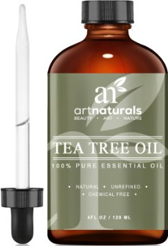 Art Naturals Tea Tree Essential Oil Pure & Natural 4 Oz Premium Melaleuca Therapeutic Grade From Australia, Use With Soap & Shampoo, Face & Body Wash, Treatment for Acne, Lice & Many Skin Conditions