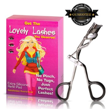 Eyelash Curler - Complete With Eyelash Curler Refill Pad - The Best Eyelash Tool For All Shapes And Sizes
