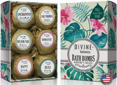 Large Lush best Bath Bomb Unique Gift Set - Perfect Nurses Week Gift - Bath Bombs Kit Includes Bonus Sponge - For Bath Body Bath Bubbles and Bath Beads - USA Made Bath Basket for Day Spas and Foot Spa