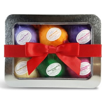 Best Bath Bath Bombs Mothers Day Gift Set - USA Made - 6 Ultra Lush Organic & All Natural Essential Oil Fizzies. Best Spa & Beauty Product. Relaxation, Stress Relief and Dry Skin Relief Is Just One Bathtub Away! A Unique Gift for Her. Infused With Organic Shea and Cocoa Butter