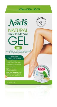 Nad's Natural Hair Removal Gel Kit, 6 Ounce