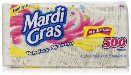 Mardi Gras Prints Napkins, 500 Count