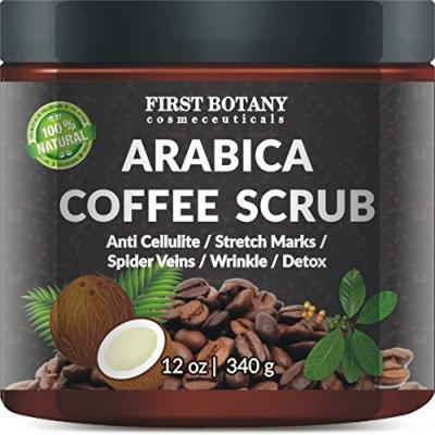 First Botany Cosmeceuticals Natural Arabica Coffee Scrub 12 oz.