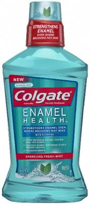 Colgate Enamel Health Anticavity Fluoride Sparkling Fresh Mint Mouthwash, 16.9 Ounce