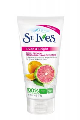 St Ives Scrub, Even & Bright Pink Lemon & Mandarin Orange 6 Ounce