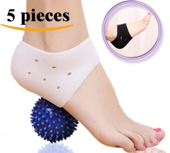 DR JK- Comprehensive Plantar Fasciitis PedPal Kit-5 pieces Plantar Fasciitis Sleeve, Massage Ball, Foot Arch Support, Foot massager, Heel Pads, Ankle Brace, Relieve Foot Pain and Metatarsal Pain