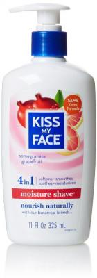 Kiss My Face Moisture Shaving Lotion, Pomegranate Grapefruit, 11 Fluid Ounce
