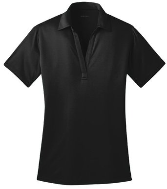 Joe's USA(tm) Silk Touch Golf Polo Shirt, XS-Black