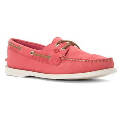 Sperry Top-Sider Women's A/O 2 Eye Wax Leather Pink Boat Shoe 6.5 M (B)