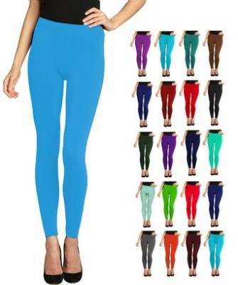 Lush Moda Seamless Full Length Basic Leggings - Variety of Colors - Aqua