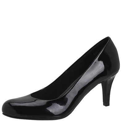 Comfort Plus by Predictions Women's Karmen Pump 5 Black Patent
