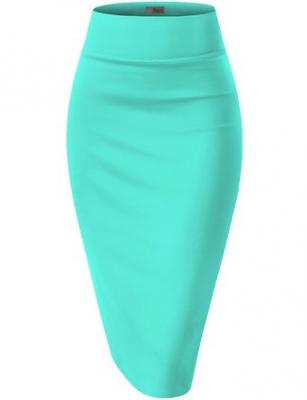 Womens Pencil Skirt for Office Wear KSK43584 1139 MINT L