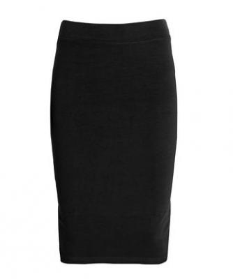 Esteez Womens Modest Lightweight Cotton Lycra Knee Pencil skirt EX81169 Black Small