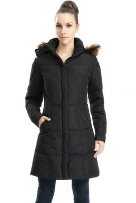"Jessie G. Women's ""Grace"" Water Resistant Down Parka Coat - Black X-Small"