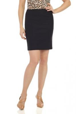 "Rekucci Women's Ease In To Comfort Stretchable Above The Knee Pencil Skirt 19"" (X-Small,Black)"