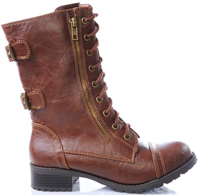 Marco Republic Commander Womens Military Combat Boots - (Tan) - 5.5