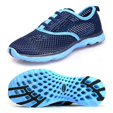 Aleader Women's Quick Drying Aqua Water Shoes Blue 6 D(M) US
