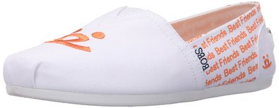 BOBS from Skechers Women's Plush - Best Friends Flat, Best Friends White, 5 M US
