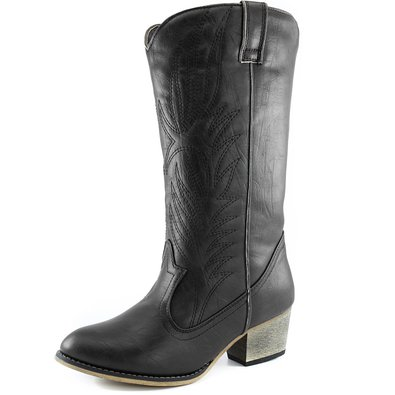 Women's DailyShoes Embroidered Legend Western Cowboy Knee High Boot, 5