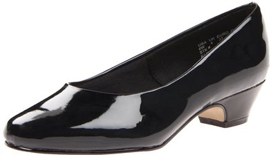 Soft Style Women's Angel II Pump,Black Patent,5.5 M US