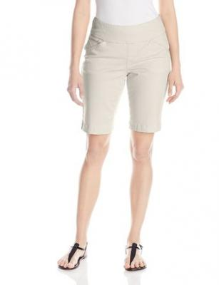 Jag Jeans Women's Ainsley Pull On Classic Bermuda Bay Twill, Stone, 0