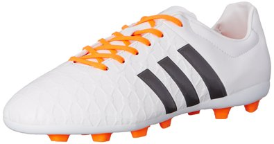 adidas Performance Women's Ace 15.4 Soccer Shoe, White/Silver/Orange, 5 M US