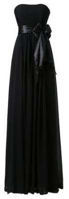 Ouman Sweetheart Bridesmaid Chiffon Prom Dresses Long Evening Gowns Black XS
