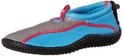 TECS Women's Aquasock Water Shoe, Blue/Pink, 5 M US