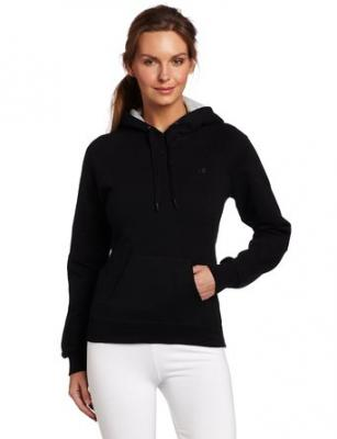 Champion Women's Pullover Eco Fleece Hoodie, Black, Small