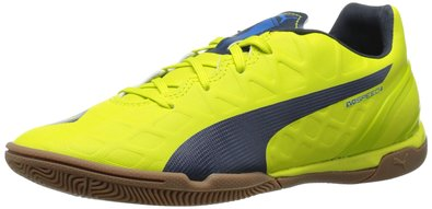 PUMA Women's Evospeed 4.4 Indoor WN's Soccer Shoe, Sulphur Spring/Total Eclipse/Electric Blue Lemonade, 5.5 B US