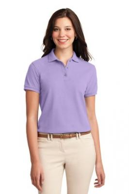Port Authority Ladies Silk Touch™ Polo. L500 (Bright Lavender) (5X-Large)