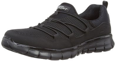 Skechers Sport Women's Loving Life Fashion Sneaker,Black,9 M US