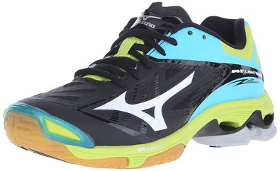 Mizuno Women's Wave Lightning Z2 Volleyball Shoe, Black/Blue Atoll, 6 D US