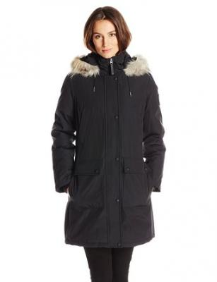 Calvin Klein Women's Parka, Black, X-Small