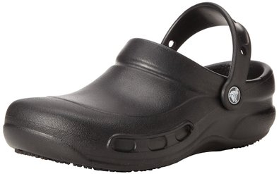 crocs Unisex Bistro Clog, Black,4 US Men's/6 US Women's